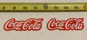 2 Pack Coca-Cola decal sticker coke White/Red