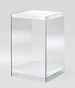 beistelltisch konsole glastisch nachttisch hochglanz weiss premiumlack ebay. Black Bedroom Furniture Sets. Home Design Ideas