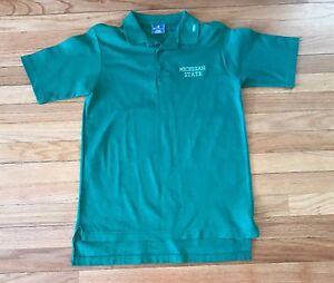 f2d028959 Details about Vintage Champion Michigan State Spartans 80's Polo Shirt  Men's Size Medium