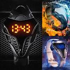 Sports Men LED Watch Silicone Band Digital Cobra Boy Triangle Watch Masculino