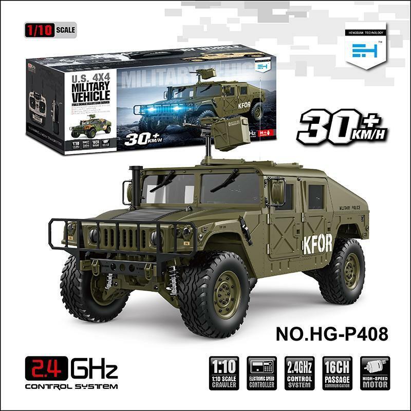 HG 1 10 RC auto 44 U.S. Military Military Military Vehicle P408 Racing ESC Motor suono Radio Light 8baca8