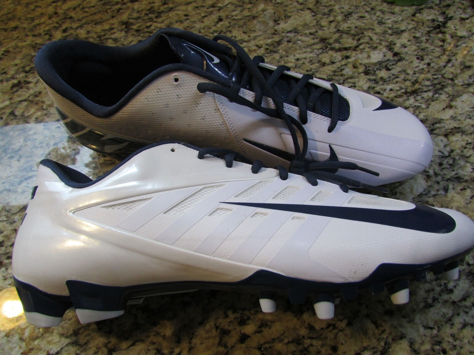 NEW NIKE LACROSSE  SHOES MENS 16 NAVY/ WHITE CLEATS SHOES Brand discount