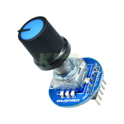 5PCS Rotary Encoder Module Rotating Potentiometer Knob Cap Digital Control 5V