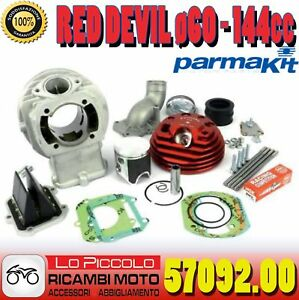 KIT-CILINDRO-PARMAKIT-W-FORCE-RED-DEVIL-60x51-LAMELLARE-144-VESPA-SPECIAL-PK-HP