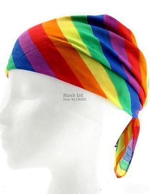 Luminosa Unisex Gay Pride Lgbt Rainbow Stripe Bandana Fascia Per Capelli-nuovo Di Zecca-mostra Il Titolo Originale Materiali Di Alta Qualità Al 100%