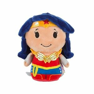 Wonder-Woman-Super-Hero-Girls-Itty-Bitty-Beanie-Soft-Toy-12cm-Neu-With-Tags
