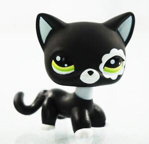 2-039-039-Littlest-Pet-Shop-LPS-2249-Black-Cat-Green-Eyes-Kids-Toys-Short-Hair