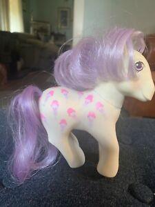 Hasbro-My-Little-Pony-Twice-As-Fancy-Scoops-White-Purple-ice-cream-Vintage-1987