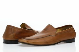 Mens-Magnanni-brown-leather-loafers-shoes-sz-8-M-EU-41