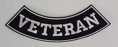 Veteran Bottom Rocker Iron on Harley Military Club Patch