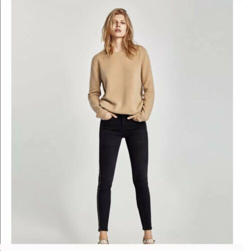 Jeans a Zara bande con dorate vita alta vOwFv