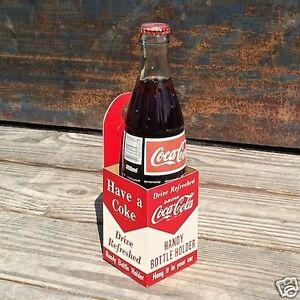 Vintage-Original-COCA-COLA-SODA-Automobile-Car-Carrier-COKE-Carton-1950s-Unused