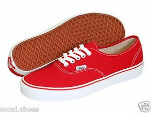 f0cab7a6f4 VANS CLASSIC AUTHENTIC RED MEN S ATHLETIC SHOES NEW WITHOUT BOX