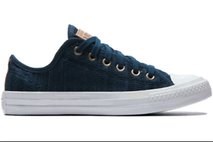 8f39d9af2fcf CONVERSE CHUCK TAYLOR ALL STAR OX NAVY  TAN  WHITE 560632C WOMENS ...