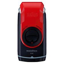 Braun M60 Mobile Washable Pocket Travel Shaver, Red