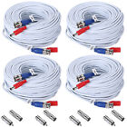 ANNKE 4Pcs 30M 100FT HD BNC DC Video Power Cable Connector for CCTV System