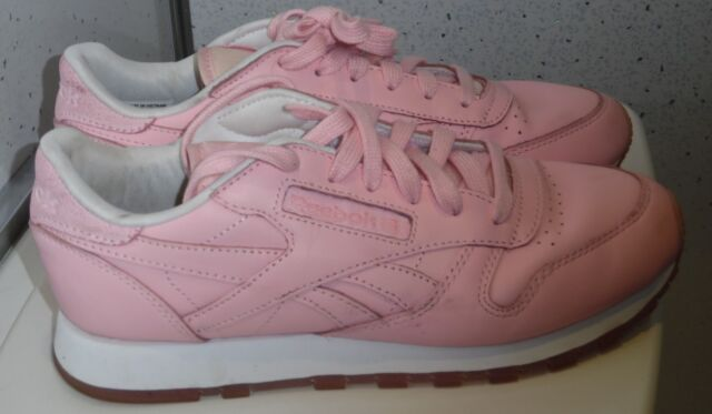 e1d1ea02ff89d WOMENS GIRLS REEBOK CLASSIC X FACE STOCKHOLM TRAINERS UK 4 EUR 37 PINK  BD1327