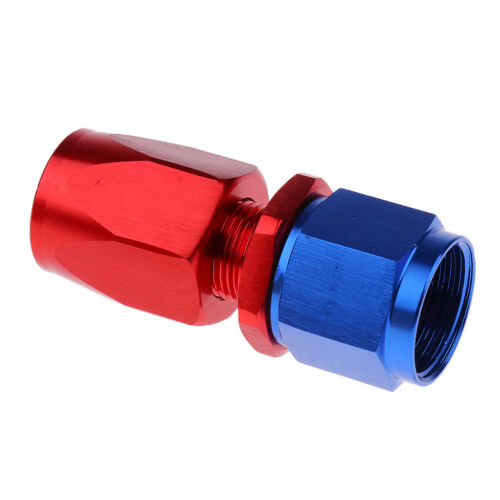 Blue /& Red AN8 Straight Fuel Oil Swivel Fitting Aluminum Hose End Adaptor