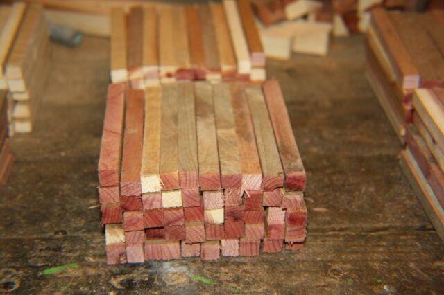 "50 Aromatic Red Cedar G  Scale Ties 3/8"" x 3/8"" x 5"" for Trestle or Bridge"