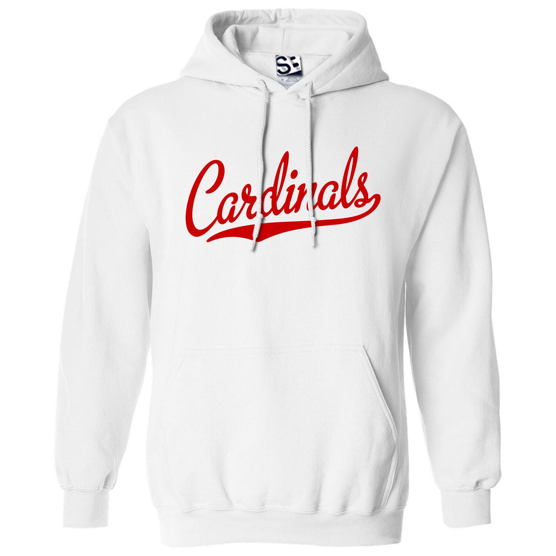 Cardinals Script & Tail HOODIE - Hooded School Sports Team Sweatshirt All Farbes