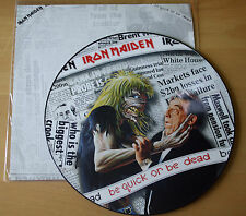 "EX! Iron Maiden BE QUICK OR BE DEAD 12"" Vinyl Picture Pic Disc + Insert!"