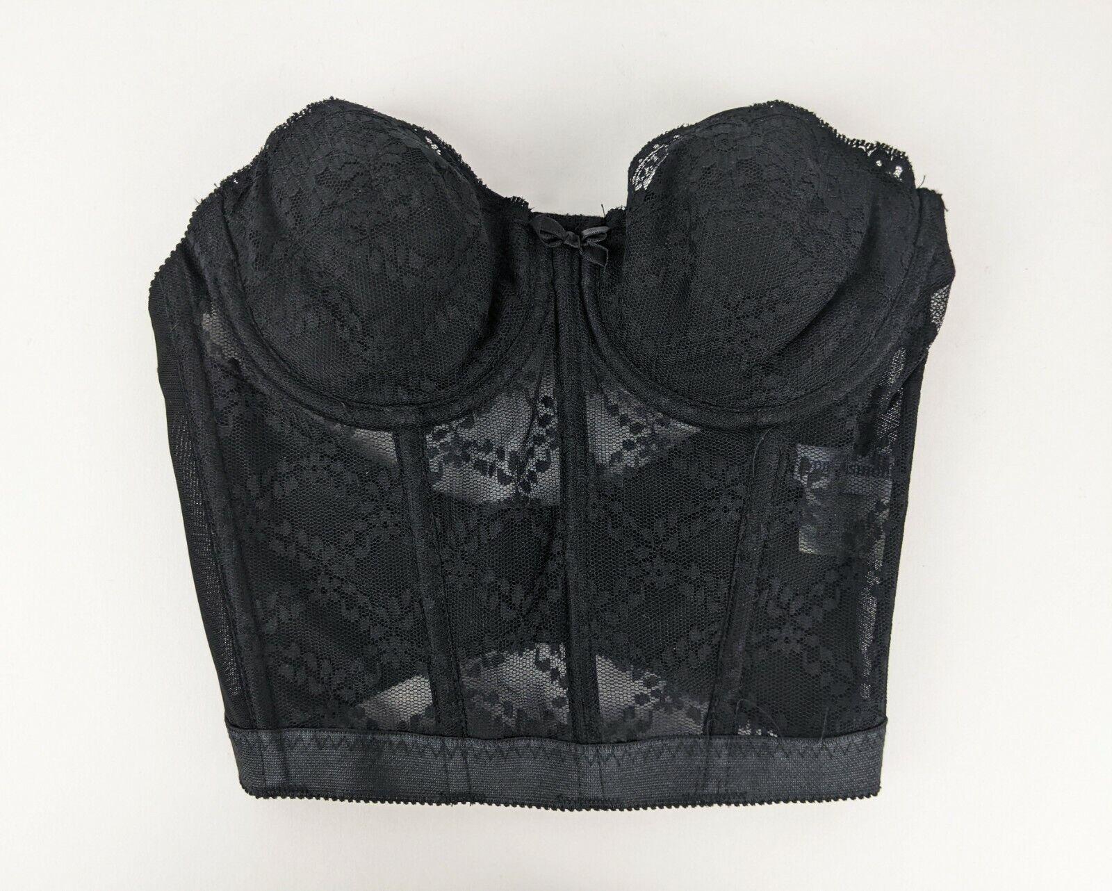 Vintage Avon Fashions Black Lace Corset Bustier L… - image 1