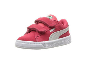 c2a1a7d27034 PUMA Suede Classic V Strap Paradise Pink White Sneakers Infants Toddler  Shoes