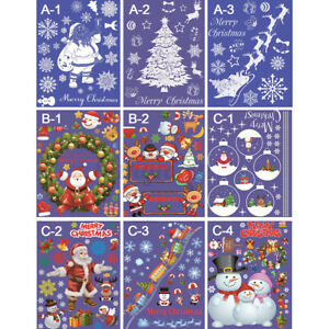 Christmas-Sticker-Home-Window-Door-Glass-Wall-Decals-Restaurant-Hotel
