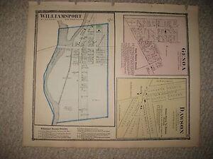 Genoa Ohio Map.Antique 1871 Genoa Dawson Williamsport Pickaway County Ohio