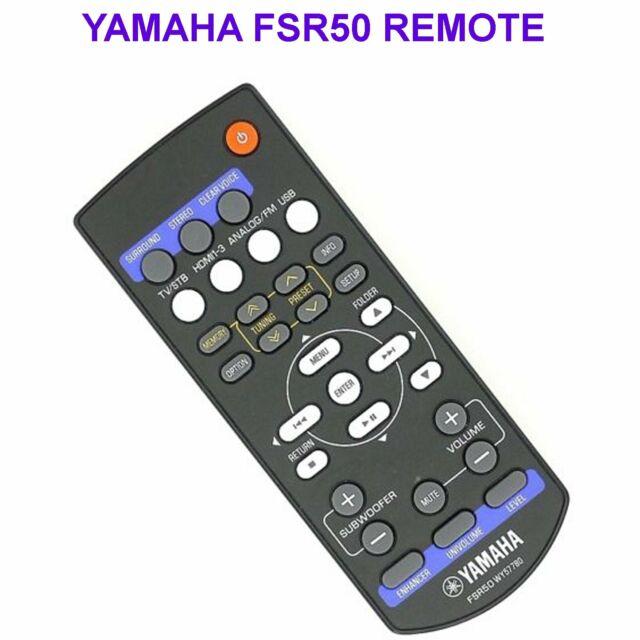 Yamaha FSR50 Remote Control for YHT-S401 SR301 WY57780 Original