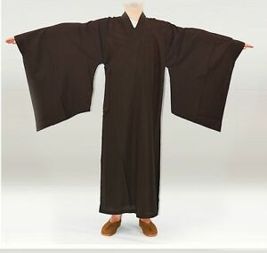 Buddhist Monk Kungfu Shaolin Robe Suit Uniform Martial Arts Gown Clothes Chinese