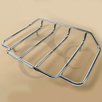 Chrome Trunk Luggage Rack Rail Fit Harley Touring Road King Electra Glide 84-17