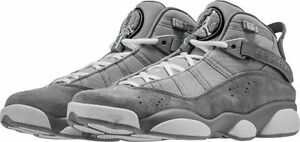 124b81f1e630 Men s Air Jordan 6 Rings Mid Grey Silver White Sizes 8-12 New In Box ...