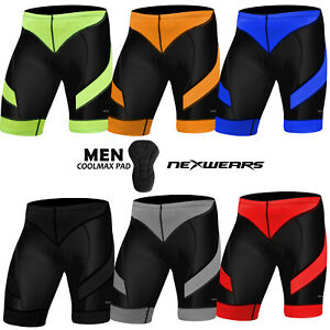 Mens-Cycling-Shorts-Coolmax-Padded-Compression-MTB-Bicycle-Bike-Short-S-to-2XL