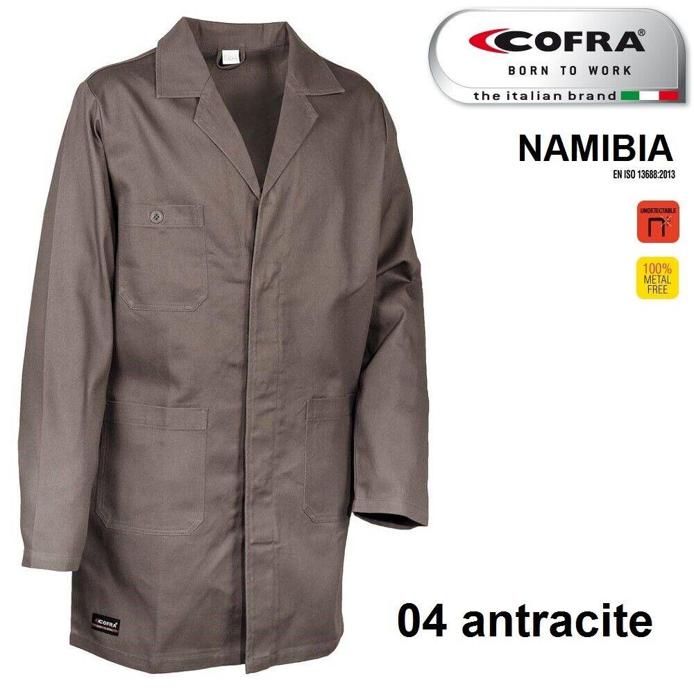 Immagine 5 - Camice da lavoro COFRA modello NAMIBIA 100% cotone 270 g/m² industria logistica