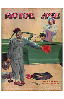 Auto & Motorrad: Teile Automobilia Liberal Neu Hot Rod Plakat 11x17 Februar 1948 Motor Alter Valentin Klassisches Auto Diversifizierte Neueste Designs