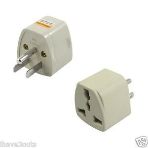 3 prong australia europe uk to us usa canada plug adapter. Black Bedroom Furniture Sets. Home Design Ideas