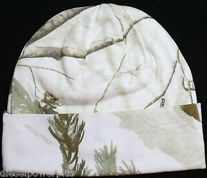 Details about real tree hunting cap hat stocking White Snow camo tobogan  lined realtree beanie c9a856502cc
