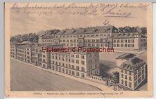 (91300) AK Mainz, Kasernen d. 1. Nassauischen Infanterie-Reg. 87, 1916