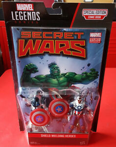 SHIELD WIELDING HEROES marvel legends series VANCE ASTRO CAPTAIN AMERICA 2 pack