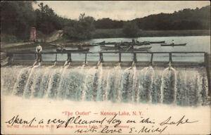 Kenoza-Lake-NY-The-Outlet-Falls-c1910-Postcard