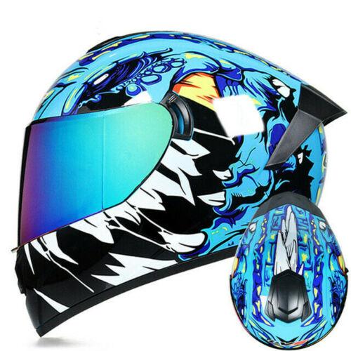 DOT Approved Motorcycle Helmets Full Face Dual Lens Racing Off Road Moto Helmet