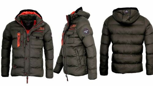Geographical Norway Men/'s Warm Winter Jacket Outdoor Thick Padded Parka Coat