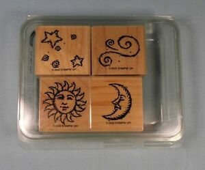 Stampin-Up-Rubber-Stamp-Set-In-the-Sky-2002-Set-of-4