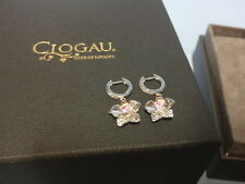 Welsh Clogau Silver & Rose Gold Orchid Pink Sapphire Drop Earrings RRP £300