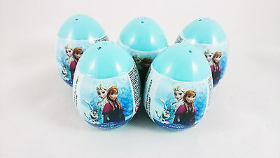 5 Eggs - Plastic Disney FROZEN Super Surprise Eggs with Candy & Toy Inside