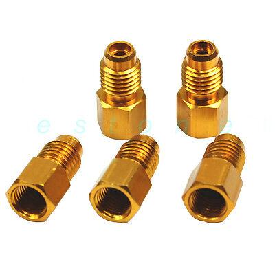 "1PC R134A Adapters Refrigerant Tank/Vacuum Pump 1/4"" ACME Femalex1/2"" Male New"