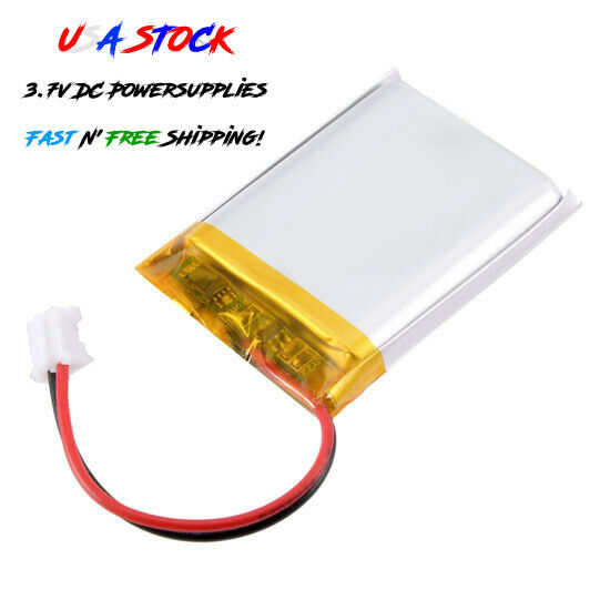 uxcell Power Supply DC 3.7V Li-ion Rechargeable Lithium Polymer Li-Po Battery