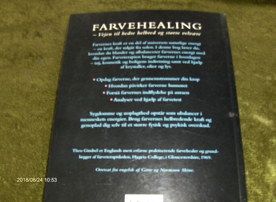 FARVE HEALING ved THEO GIMBEL, THEO GIMBEL, emne: krop og