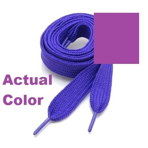 """Ship Fast W//Tracking THICK FLAT FAT SHOE LACES  3//4/"""" Wide 52/"""" Long USA Seller"""